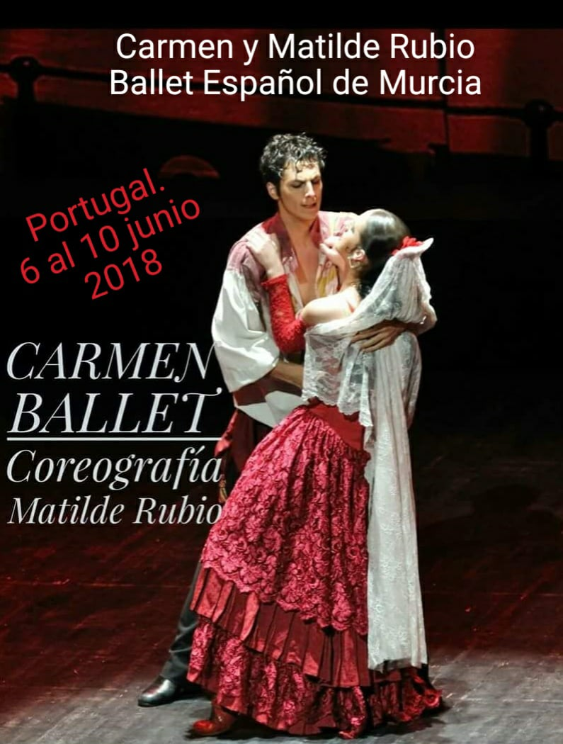 Cartel Carmen Ballet Portugal junio 2018